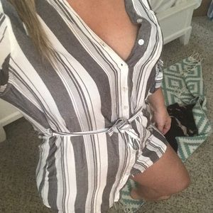 Sexy boy short type button up dress